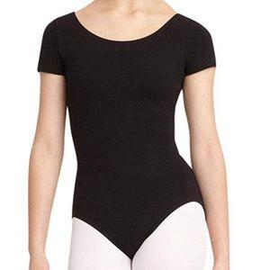 Classic Short-Sleeved Black Bodysuit